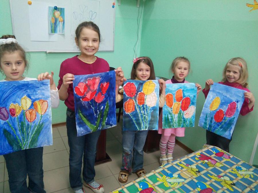 Художественная студия в детском клубе Смайлик (12)
