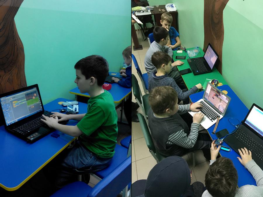 Кружок пограммирования в детском клубе смайлик